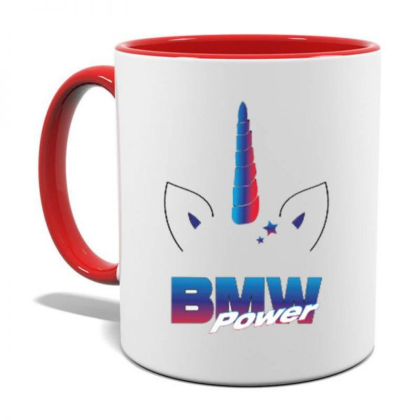BMW Power Tasse Einhorn